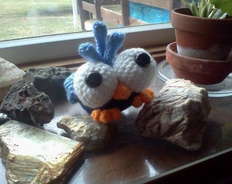 Bird Amigurumi - MADE to ORDER- Borus the Bluebird Kooky-Bird