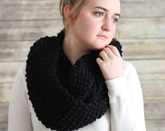 Knit Infinity Scar, Loop Scarf, Cowl, Knitted Scarf, Chunky Knitted Scarf, Circle Scarf, Knit Cowl, Scarf, Knitted Cowl, Chunky Scarf,