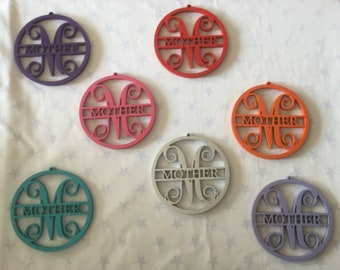 Mother tags, embellishments, ornament