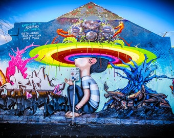 Graffiti Photography, Melbourne Print, Street Art Wall Art, Digital Art Prints, Fitzroy Wedding Gift for Her, FREE SHIPPING AUSTRALIA