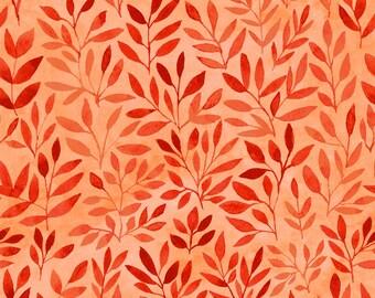 Orange Blatt Stoff, Sommer Zimmer Dekor, Vorhangstoff, Schürze Stoff, Quilten Versorgung, Orange Stoff, Baumwoll-Stoff von der Werft, Fettes