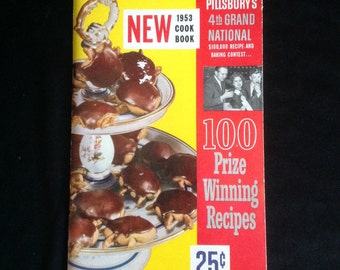 Vintage 1953 PILLSBURY's 4th Grand National 100 Prize-Winning Recipes Cookbook