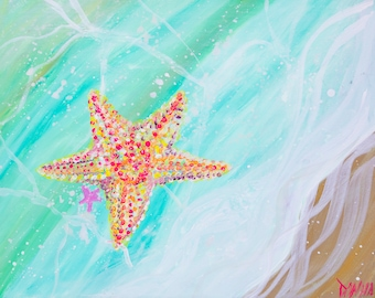 Starfish - Colorful Abstract Art - Paper Print