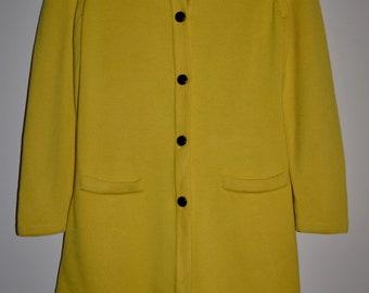 Escada yellow  wool cardigan