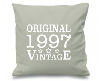 21st Birthday Pillow, 21st Birthday Gift, 21st Birthday Idea, 21st Present Gift for Daughter, Son, Friend 1997 Birthday, Zippered Cover