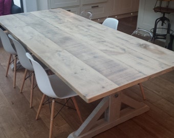 ... Small Driftwood Dining Table Handmade From Reclaimed Rustic Reclaimed  Driftwood Dining Table Watchthetrailerfo ...