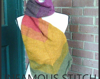 Scarf Slouchy Beanie Rainbow Set Color Pallet Scarf Set