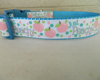 Just Peachy Dog Collar
