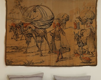 Antique French tapestry in an Arabian theme