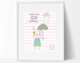 Bunny&Umbrella_Raindrops are the perfect Lullaby Wall Print_0017WP