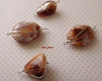 Pearl wrapped orange/copper/white 3cm