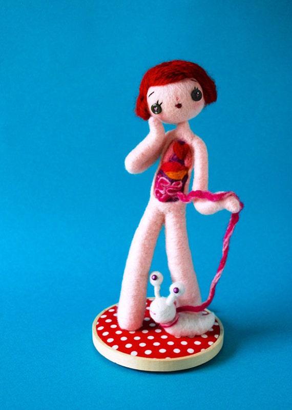 Druck: Anatomische weibliche B mit Schnecke Puppe Anatomie