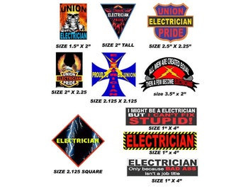 Certified Electrician Hard Hat Sticker / Helmet Decal Label Lunch Tool Box