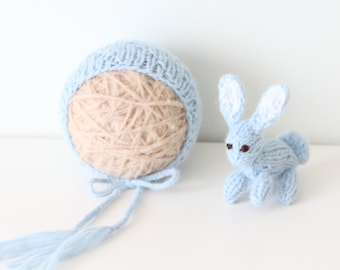 Newborn boy hat – Baby props – Newborn boy – Photo props – Baby boy hat – Newborn hat – Newborn props – Baby boy props - Light blue hat
