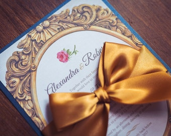 Invitation inspired by Beauty and the Beast   Fairytale Wedding Invite   True Love Wedding Invitation   Invitations to suit all Occasions