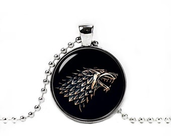 House Stark Necklace Stark Wolf Pendant Game Of Thrones Jewelry Winter is Coming