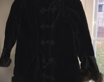 Vintage 1890s 1900s corduroy victorian coat