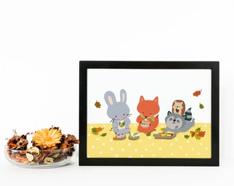 Autumn Picnic - Squeaky Collection Art Print