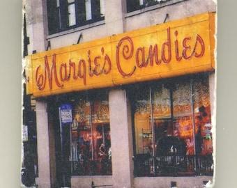Margies Candies in Bucktown- Original Coaster