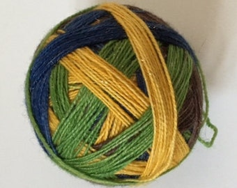 To order sock yarn: 'We are Golden' (4 colours, self striping, golden stellina)