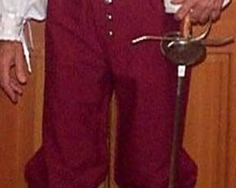SCA Fencing Venetians -  Button Fly Pants - Gipsy Peddler Rapier Armor