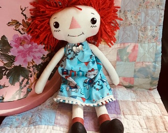 Sue Ann - Rag Doll - Raggedy Ann - Cloth Doll