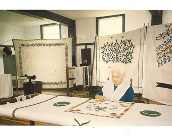 Vintage Postcard - Quilting - Pleasant Hill Kentucky - Walter H Miller Co Publisher