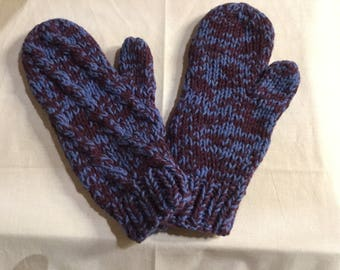 Smoky Mitts (Purple and Blue) 100% Yak Down Wool - 5317-BP