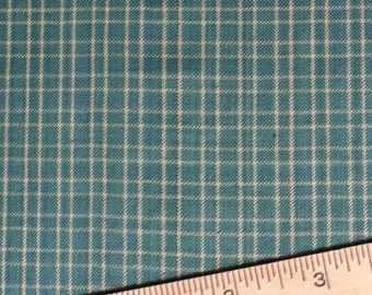 Homespun, Dark Green, Small check, 1/2 YARD, woven, yarn-dyed, cotton