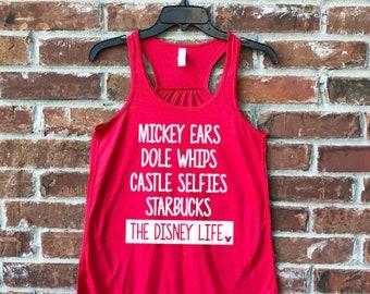 Disney Life Tank, Magic Kingdom,  Disney Tank, Disney Family Shirts, Run Disney, Disney Womens Tank Top, Mickey Ears, Dole Whip, Disney Life