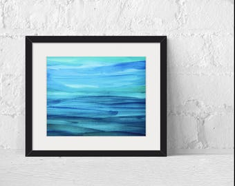 Fine Art Prints, Large Wall Art, Ocean Abstract Fine Art Print, Giclee Print Wall Art, Abstract Print, Watercolor Painting Print