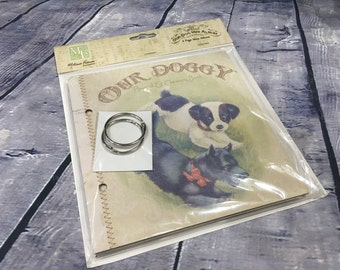 Melissa Frances Mini Album, Our Dog Mini Album, Dog Record and Memory Book, Doggy Mini Album