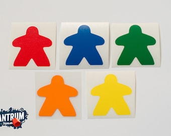 Meeple Vinyl Decal for board game family car decal or laptop sticker