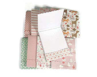 Party Favor Set of 20 Matchbook Notepads Mini Note Pads in Lullaby Girl