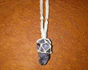 Magickal Hemp Mystic Merlinite Stone Macrame Necklace