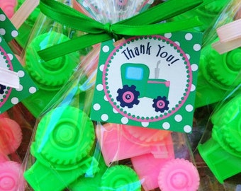 20 TRACTOR SOAPS {10 Favors} -  nsportation Birthday, Tractor Baby Shower, Construction, Farm Party, Vehicle, Birthday Party Soap Favors