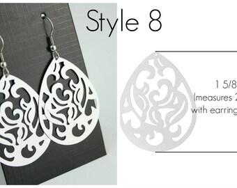 Filigree Earrings Style 8 Stainless Steel Setting As Seen On Jane.com