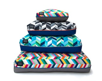 CUSTOM Dog Bed or Cat Bed – Design your own Pet Bed! You choose the fabrics and piping! | Modern Pet Beds from Lion + Wolf