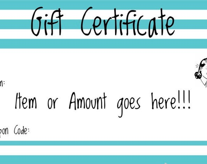 The Honey Bagger Gift Certificate - Choose your gift value (Great last minute gift)