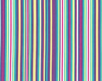 Zoology Orchid Play Stripe Mali for Michael Miller, 1/2 yard