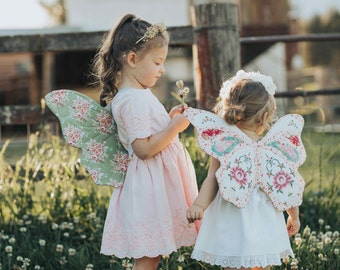Wife-made 'Lacewing' Butterfly Wing Pattern & Tutorial Add-on,  PDF Pattern, Tutorial, Children, Sewing, Age 2+, Instant Download