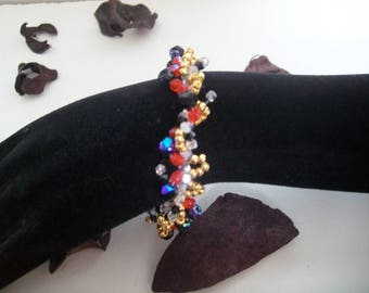 Bracelet with swarovski crystal Pearl and seed beads
