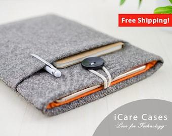 MacBook Pro Case MacBook Pro Touchbar Case Apple Computer Case Cases For MacBook Pro 13 Mac Book Pro Apple Mac Cover Brown Tweed Wool Orange