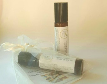 CUTICLE OIL with Sea Kelp. Gift Wrapped. Natural Ingredients. Sea Buck thorn Oil.  Preservative Free.