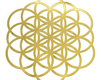 18k gold plated Seed of Life/ Flower of Life Healing Grid YA-106