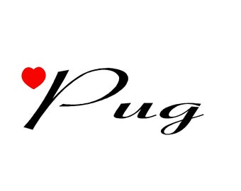 Pug Name Cross Stitch Pattern PDF