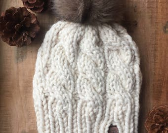 Knit Cable Toque
