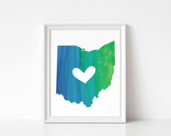Ohio State Art Print