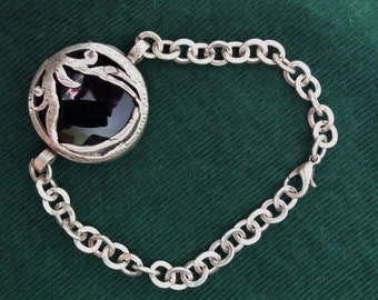 Antique Turkish Silver/Black bracelet