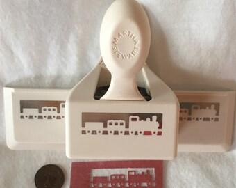 Martha Stewart TRAIN ENGINE CABOOSE  Border Edge Paper Punch Scrabooking Card Craft